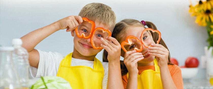 Gesundes Gemüse für gesunde Kinderaugen